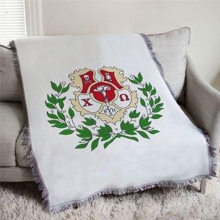 Chi Omega Full Color Crest Afghan Blanket Throw
