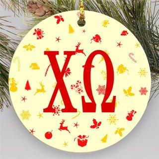Chi Omega Holiday Cheer Ornaments