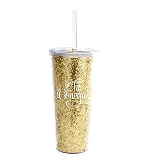 Chi Omega Glitter Tumblers