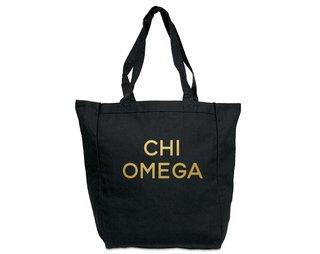 Chi Omega Gold Foil Tote bag