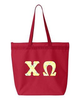 Chi Omega Greek Letter Liberty Bag