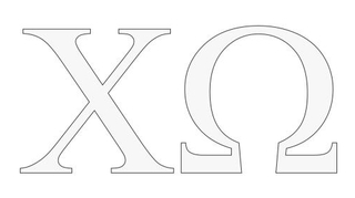 Chi Omega Greek Letter Window Sticker Decal