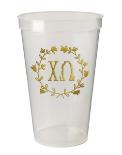 Chi Omega Greek Wreath Giant Plastic Cup