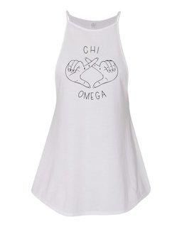 Chi Omega Hand Signal VIP Tank Top