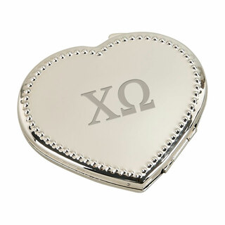 Chi Omega Heart Shaped Classic Compact