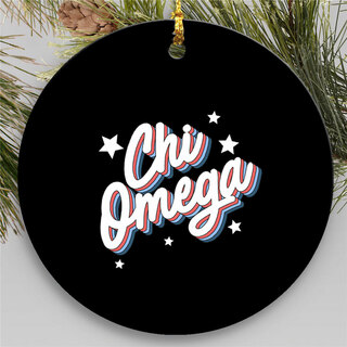 Chi Omega Holiday Flashback Ornaments