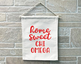 Chi Omega Home Sweet Home Banner