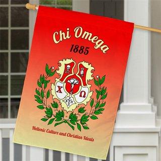 Chi Omega House Flag