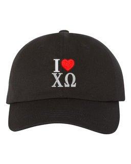 Chi Omega I Love Hat