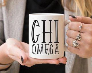 Chi Omega Inline Coffee Mug