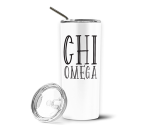 Chi Omega Inline Stainless Tumbler