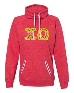 Chi Omega J. America Relay Cowlneck Sweatshirt