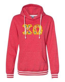 Chi Omega J. America Relay Hooded Sweatshirt