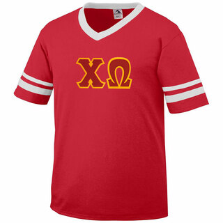 DISCOUNT-Chi Omega Jersey With Greek Applique Letters