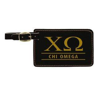 Chi Omega Leatherette Luggage Tag