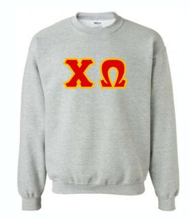 Chi Omega Lettered Crewneck Sweatshirt