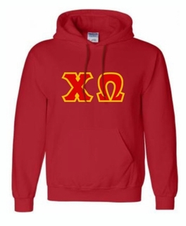 Chi Omega Lettered Greek Hoodie- MADE FAST!