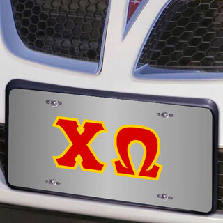 Chi Omega Lettered License Cover