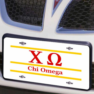 Chi Omega Lettered Lines License Cover