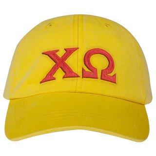 Chi Omega Lettered Premium Pastel Hat