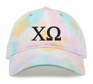 Chi Omega Lettered Rainbow Cap