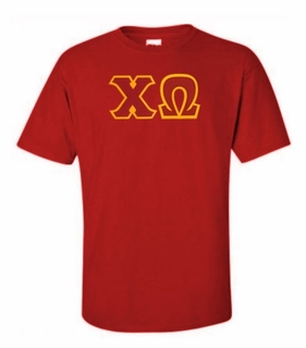Chi Omega Lettered T-shirt - MADE FAST!