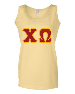 DISCOUNT-Chi Omega Lettered Ladies Tank Top