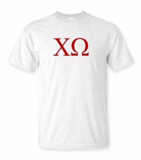 Chi Omega Lettered Tee - $9.95! - MADE FAST!