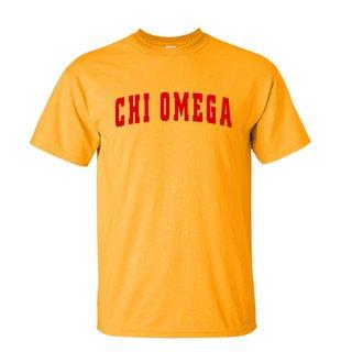 Chi Omega Letterman T-Shirts