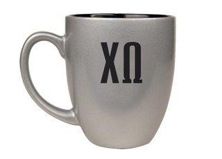 Chi Omega Letters Engraved Bistro Mug