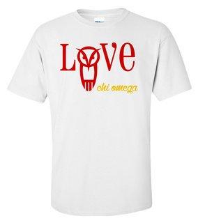 Chi Omega Love Mascot T-Shirt