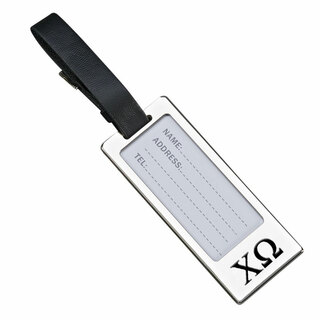 Chi Omega Luggage Tag With Identification Window