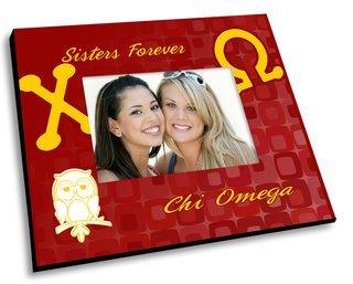 Chi Omega Mascot Color Picture Frame