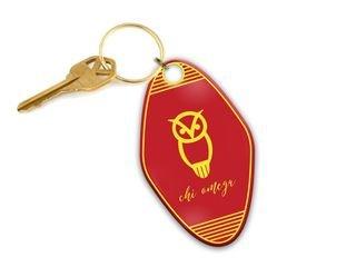 Chi Omega Mascot Motel Keychain