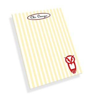 Chi Omega Mascot Notepad