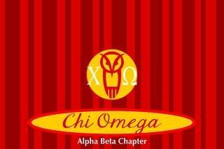 Chi Omega Mascot Tablecloth