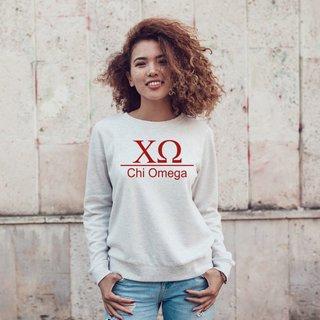 Chi Omega Message Crewneck Sweatshirts