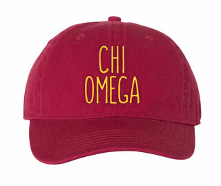 Chi Omega Mod Comfort Colors Pigment Dyed Baseball Cap