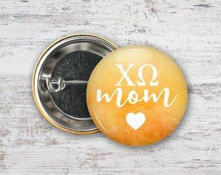 Chi Omega Mom Button