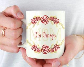 Chi Omega Mom Floral Mug
