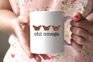 Chi Omega Monarch Butterfly Coffee Mug