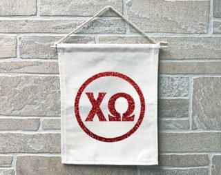 Chi Omega Monogram Banner