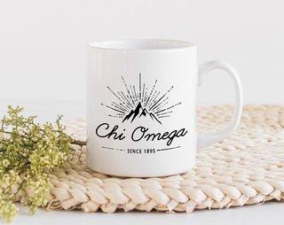 Chi Omega Mountain Mug