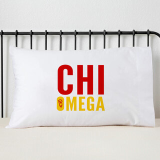 Chi Omega Name Stack Pillow Cover