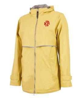 Chi Omega New Englander Circle Monogram Rain Coat