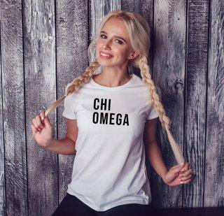 Chi Omega Left Align T-Shirt