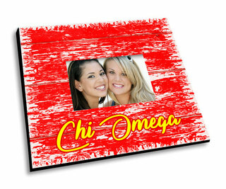 Chi Omega Painted Fence Picture Frame