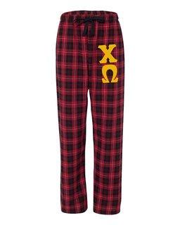 Chi Omega Pajamas -  Flannel Plaid Pant