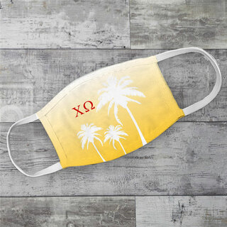 Chi Omega Palm Trees Face Mask