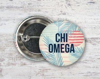 Chi Omega Paradise Found Button
